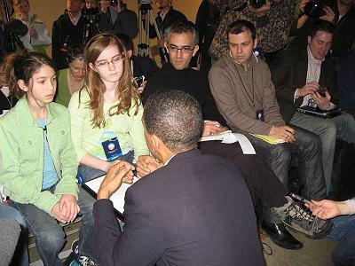 Obama answering