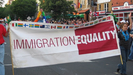 Immigration equality banner gay immigration rights binational couples